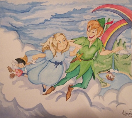 """Oh! And he's also a very talented artist, as he was the one who dis this piece, discussed in my """"Still Living In Neverland"""" entry."""