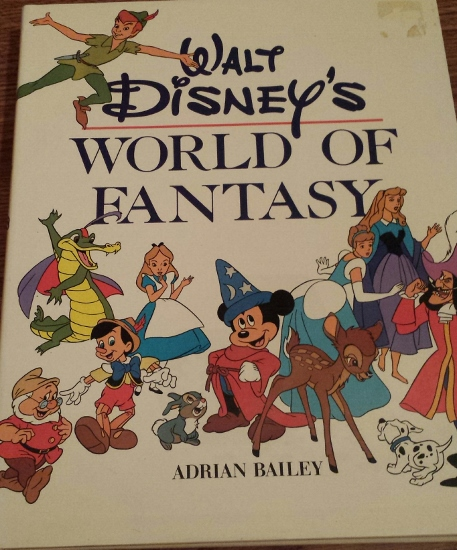 Walt Disney's World of Fantasy Hardcover Book - This one covers movies, TV, and parks - Mid 80's