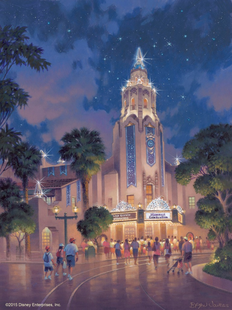 Carthay Circle Theatre 60th Anniversary Concept Art, Picture copyright The Walt Disney Company