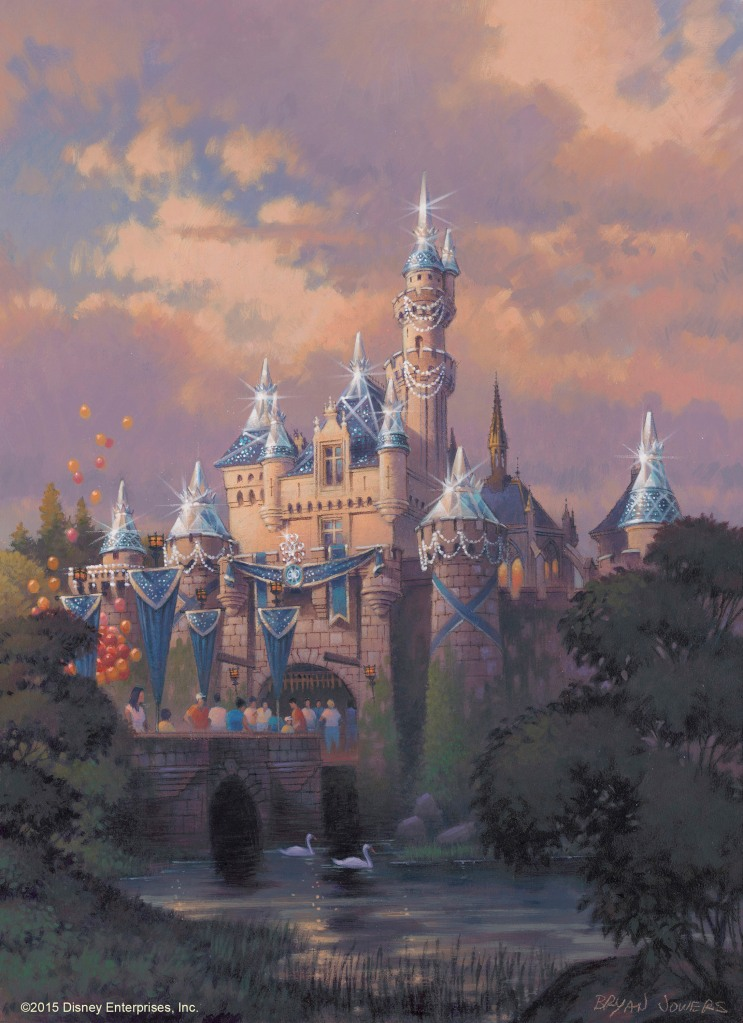 Sleeping Beauty Castle 60th Anniversary Concept Art, Picture copyright The Walt Disney Company