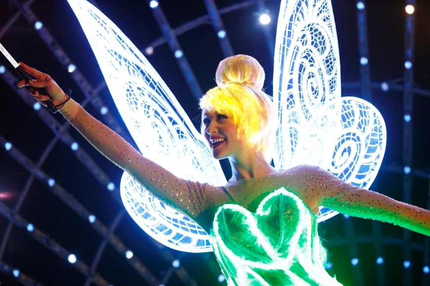 "Tinker Bell in ""Paint the Night."" Picture copyright The Walt Disney Company"