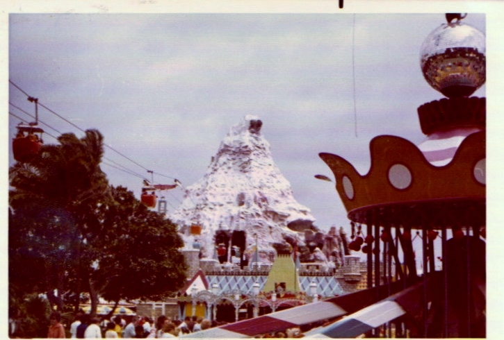 A view of Disneyland as seen while riding Dumbo. - 1974