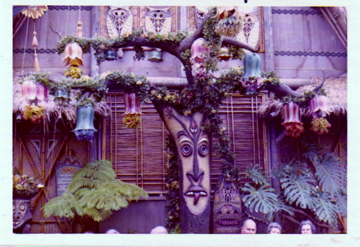 Tongoroa outside of The Enchanted Tiki Room - is it just me, or does this area look as sparse as the rest of the jungle used to? - 1974