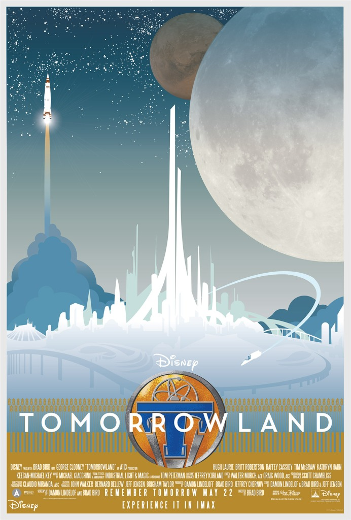 Tomorrowland fan-art poster courtesy of Joseph Marsh. Check out more of his amazing artwork on Behance!